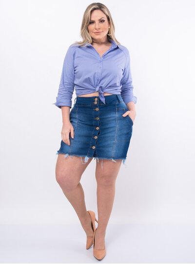 Short Saia Plus Size Jeans