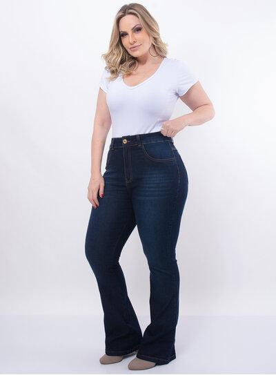 Calça Plus Size Flare Jeans
