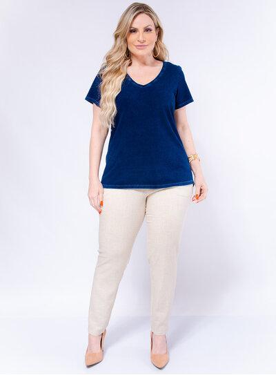 Blusa Plus Size Imita Jeans