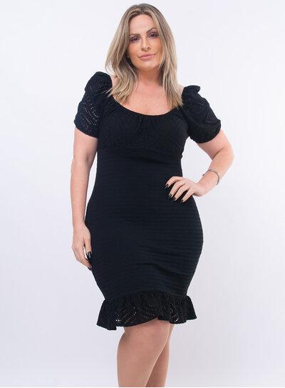 Vestido Plus Size Malha Laise