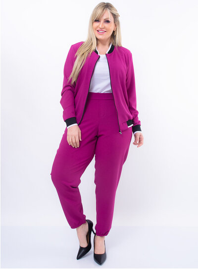 Jaqueta Plus Size Bomber Color