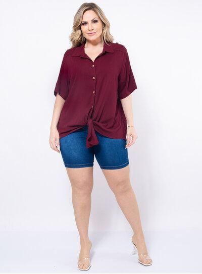 Camisa Plus Size com Amarração