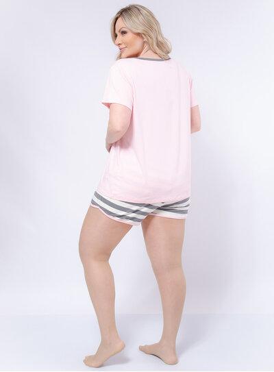 Pijama Plus Size Curto Beauty