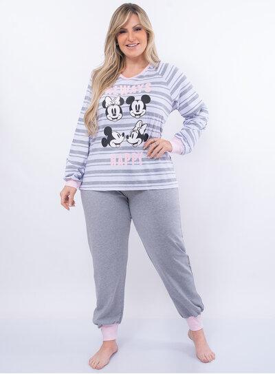 Pijama Plus Size Mickey e Minnie