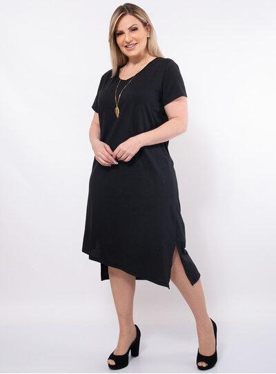 Vestido Plus Size Barra Assimétrica