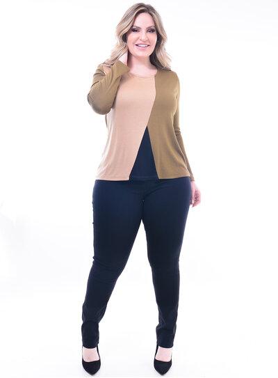 Blusa Plus Size Três Cores