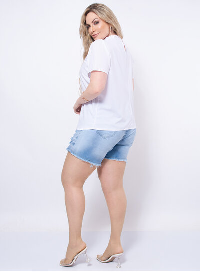 Blusa Plus Size Renda Laise