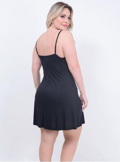 Camisola Renda Preta Plus Size