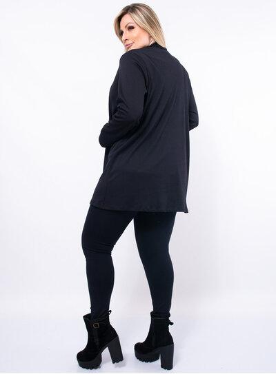 Cardigan Plus Size Canelado