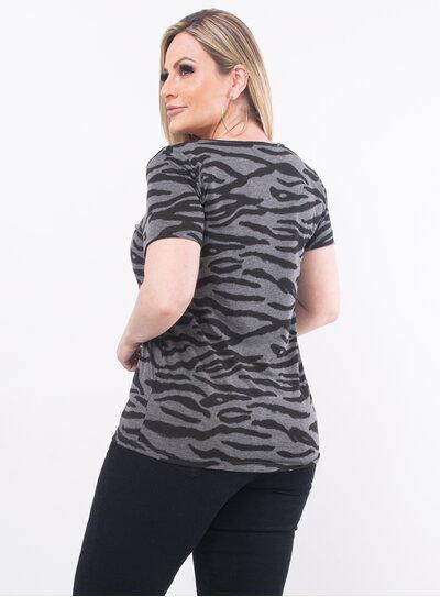 T-Shirt Plus Size Zebra Animal Print