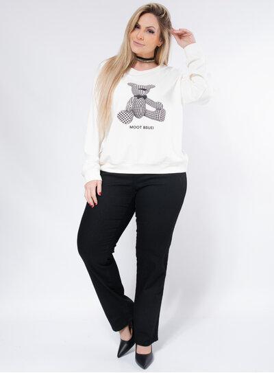 Casaco Plus Size Moletom Urso