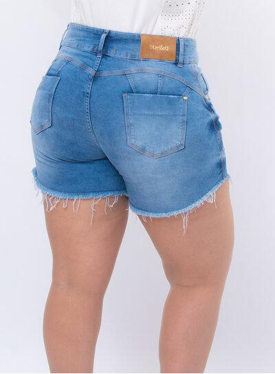 Short Jeans Plus Size Destroyed