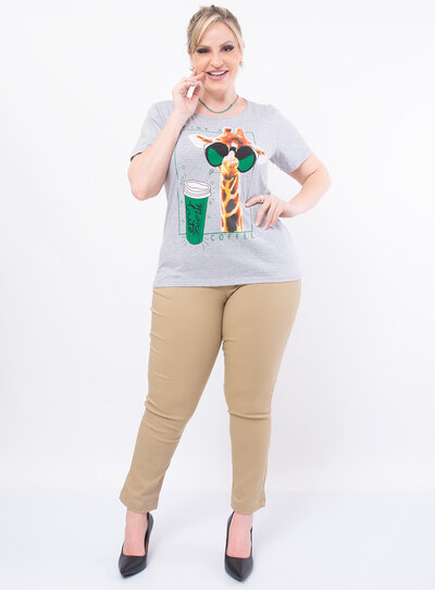 T-Shirt Plus Size Drink a Coffee