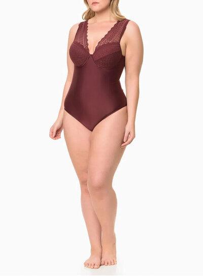 Body Plus Size Calvin Klein Ameixa