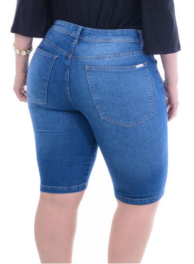 Bermuda Jeans Attribute Ciclista Plus Size