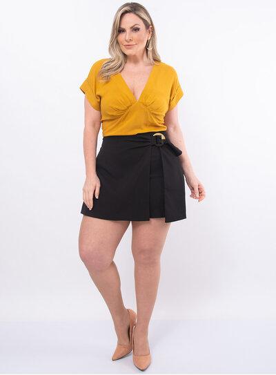 Blusa Plus Size Decote em V