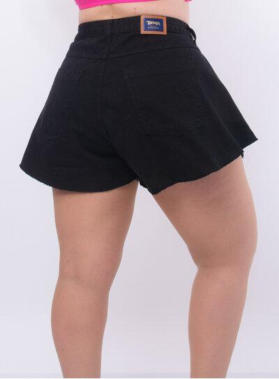 Short Plus Size Jeans Godê Preto