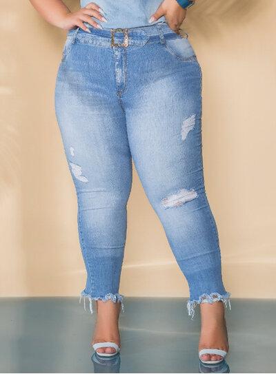Calça Jeans Plus Size com Cinto