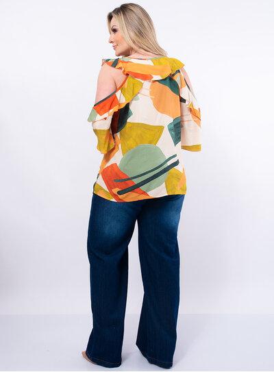 Blusa Plus Size Viscose Ampla