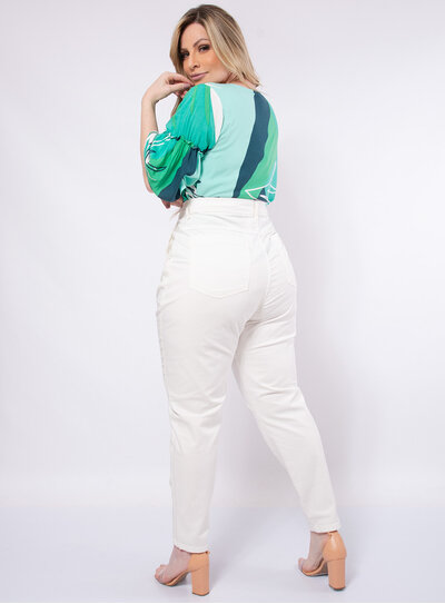 Calça Plus Size Sarja com Elastano