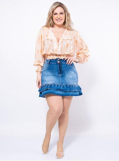 Blusa Plus Size Lastex