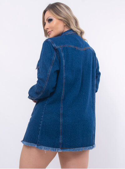 Maxi Jaqueta Plus Size Jeans