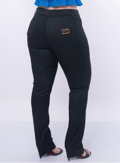 Calça Jeans Plus Size Resinada