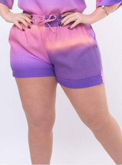 Short Plus Size Tie Dye