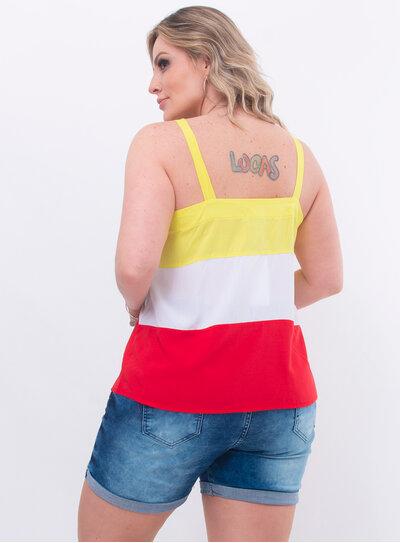 Regata Plus Size Tricolor