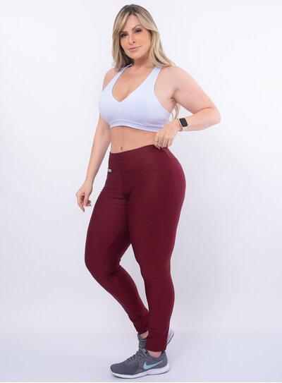 Legging Fitness Brilhante Plus Size