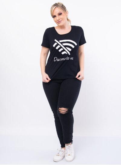 T-Shirt Plus Size Wi-fi