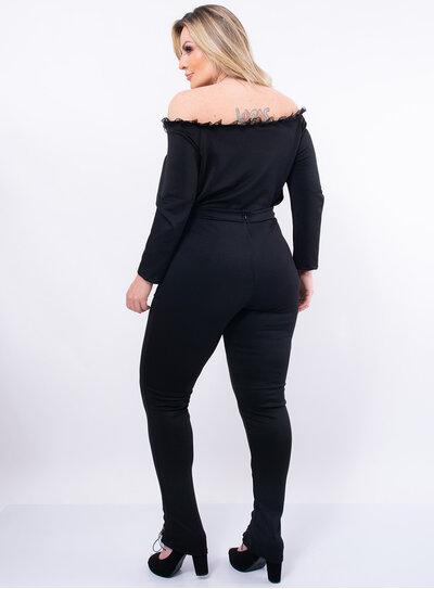 Calça Legging Plus Size Ilhós