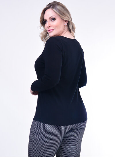 Blusa Plus Size Preta