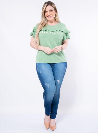 T-Shirt Plus Size Babados