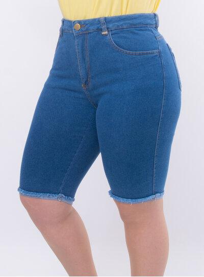Bermuda Plus Size Jeans Ciclista