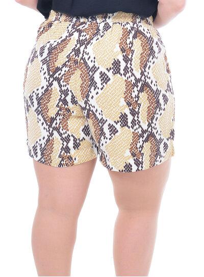 Short Plus Size com Bolso Animal Print