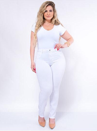 Calça Jeans Plus Size Skinny com Elastano