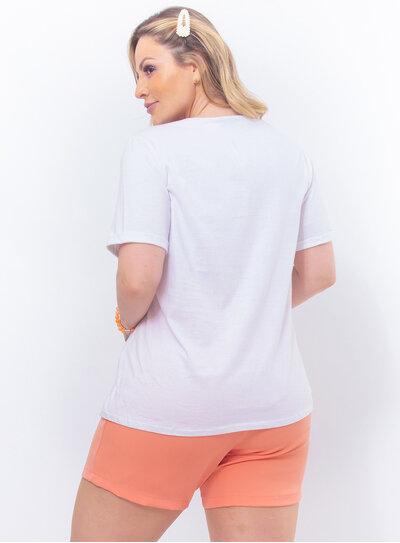T-Shirt Plus Size Laço