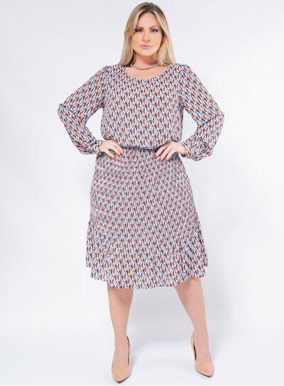 Vestido Plus Size Plissado