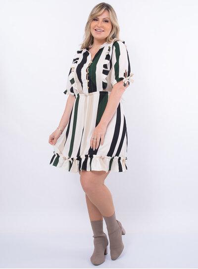 Vestido Plus Size Babados