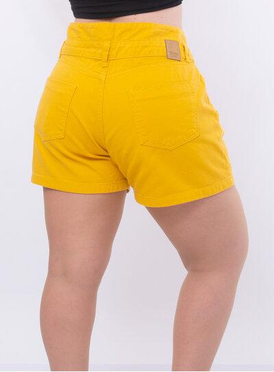 Short Jeans Plus Size Detalhe na Cintura