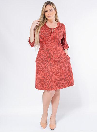 Vestido Plus Size Animal Print