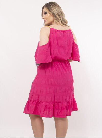 Vestido Plus Size Recorte no Decote