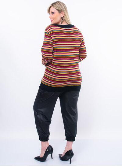 Suéter Plus Size Colorido