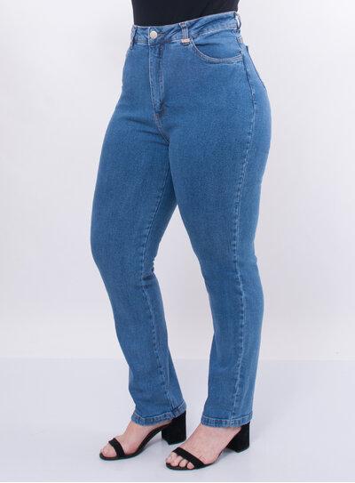Calça Plus Size Mom Jeans