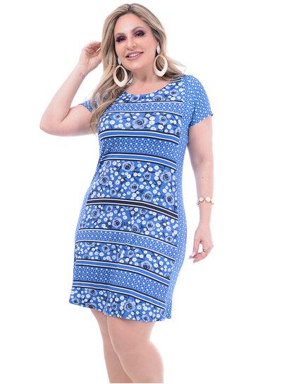 Vestido Wee Mix Estampa Plus Size
