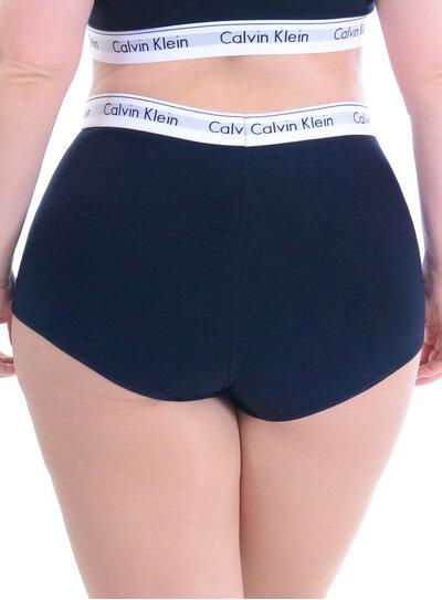 Boyshort Plus Size Preto Calvin Klein