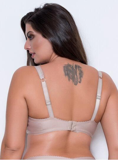 Sutiã em Poliamida Clássico Franjas Nude
