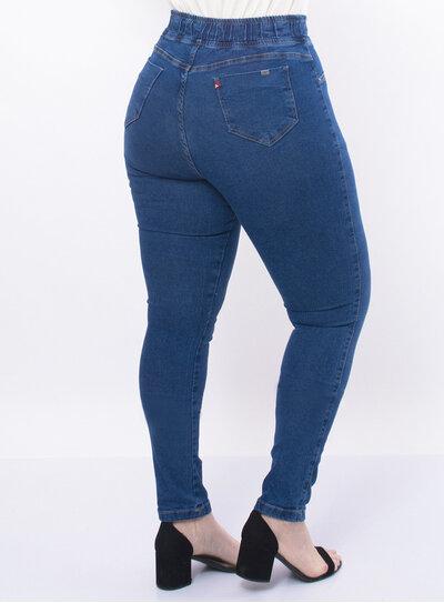 Calça Plus Size Jeans Super Skinny