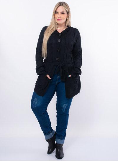 Cardigan Plus Size Lã